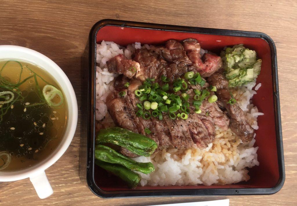 近江牛のステーキ重